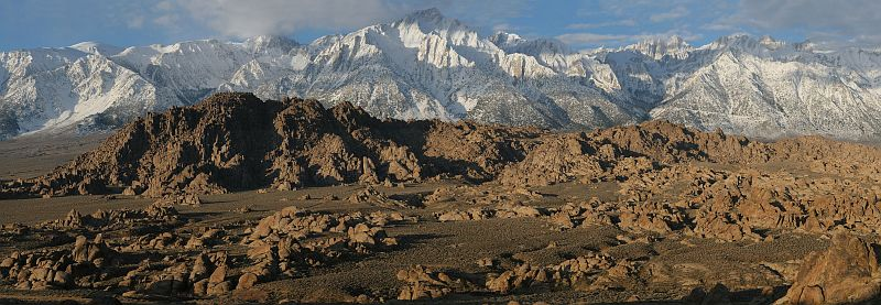 Photograph of Sierra Nevada and Alabama Hills