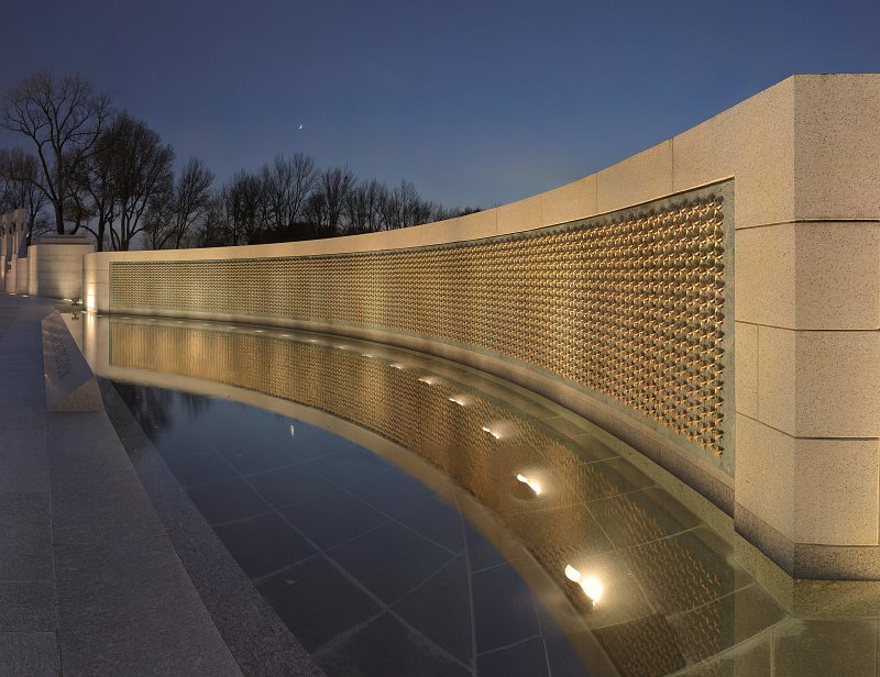 Photograph of WWII Memorial